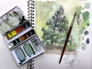 Drawing and painting trees, Katharine Dickinson, art classes